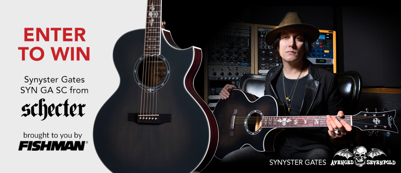 avenged sevenfold news win a synyster gates acoustic guitar. Black Bedroom Furniture Sets. Home Design Ideas
