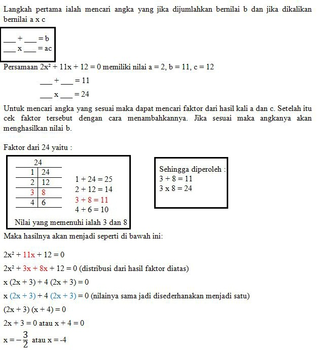 Rumus Persamaan Kuadrat Matematika Beserta Contoh Soal Rumus Persamaan Kuadrat Matematika Beserta Contoh Soal
