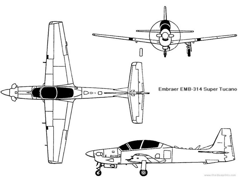 AVIÕES MILITARES: Embraer T-27 Tucano e A-29 Super Tucano