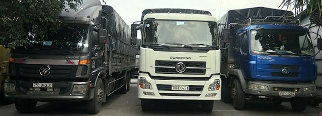 Xe tải của công ty tri châu