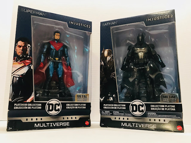 Injustice 2 Superman DC Multiverse Platinum Metal Action Figure Complete w Stand