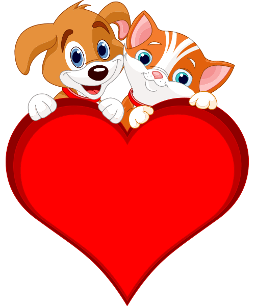 Puppy and Kitty Heart
