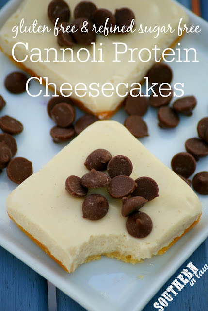 Gluten Free Cannoli Protein Cheesecake Slice Recipe - low fat, gluten free, high protein, refined sugar free, low carb, grain free, clean eating friendly, healthy