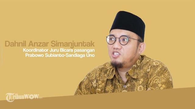 SBY Walk Out, Dahnil Anzar: Pendukung Jokowi Ciderai Kampanye Damai Pemilu 2019