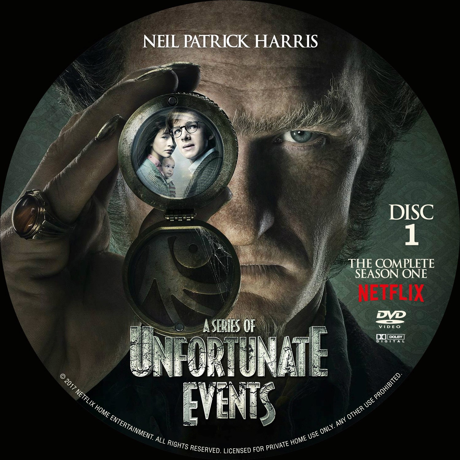 Label DVD A Series Of Unfortunate Events Primeira Temporada