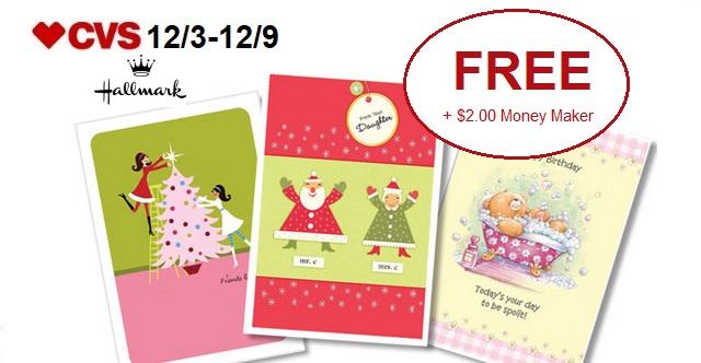 http://www.cvscouponers.com/2017/12/free-200-money-maker-for-3-hallmark.html