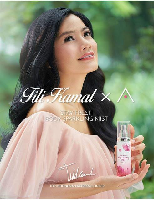 Titi Kamal and her trademark long, dark hair