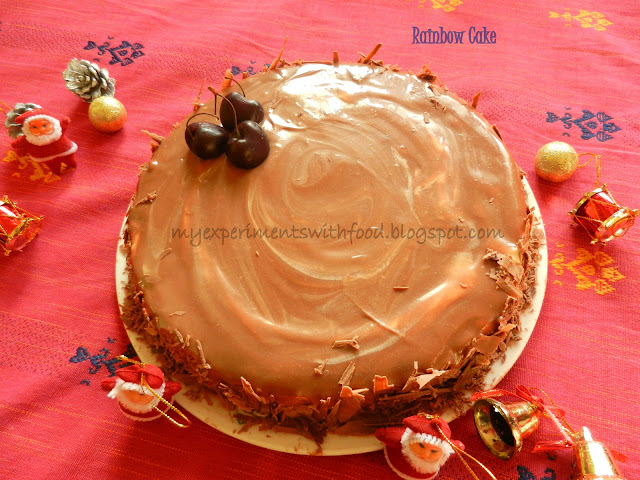 Layer Cake Recipe In Malayalam: My Experiments With Food: Joan's Rainbow Cake
