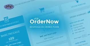 Download OrderNow v1.1- Responsive PHP Order Form