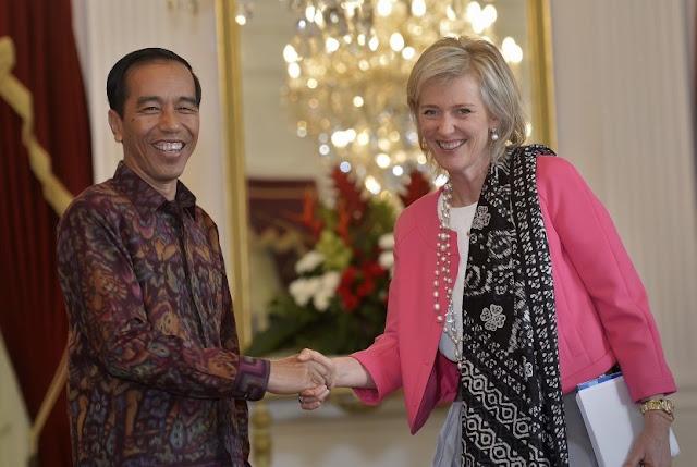 Temui Presiden Jokowi, Putri Belgia Bawa 300 pengusaha