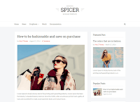 Spicer Simple Blogger Template