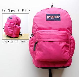 Grosir Tas Distro Merk Jansport Warna Pink Kode 01