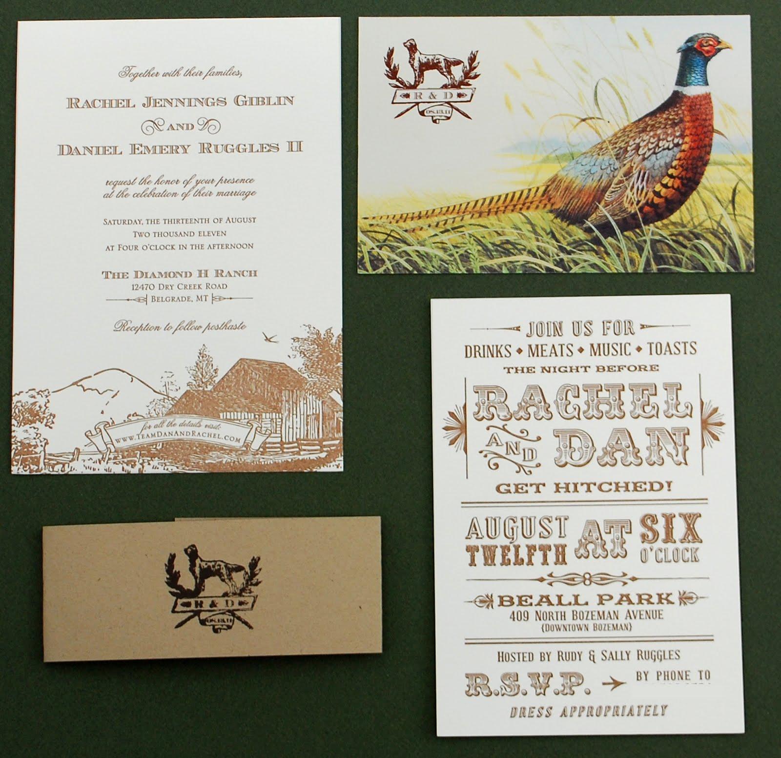 Custom Rustic Wedding Invitations: You're Invited: Custom Design: Rustic Montana Wedding