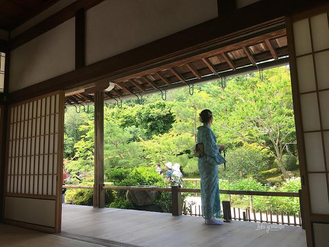 Vista hacia el exterior del Tenryu-ji