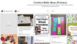 https://www.pinterest.com/LSSchachter/creative-math-ideas-primary/