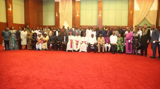 President Akufo-Addo meets Christian leaders at Flagstaff House (Photos)