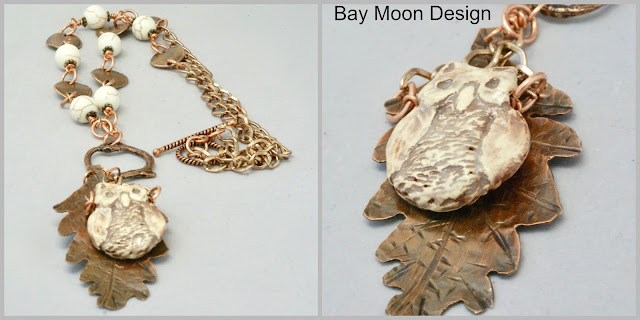 owl necklace by BayMoonDesign