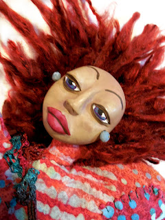 Love Lessons a Contemporary Folk Art Doll for Self Care