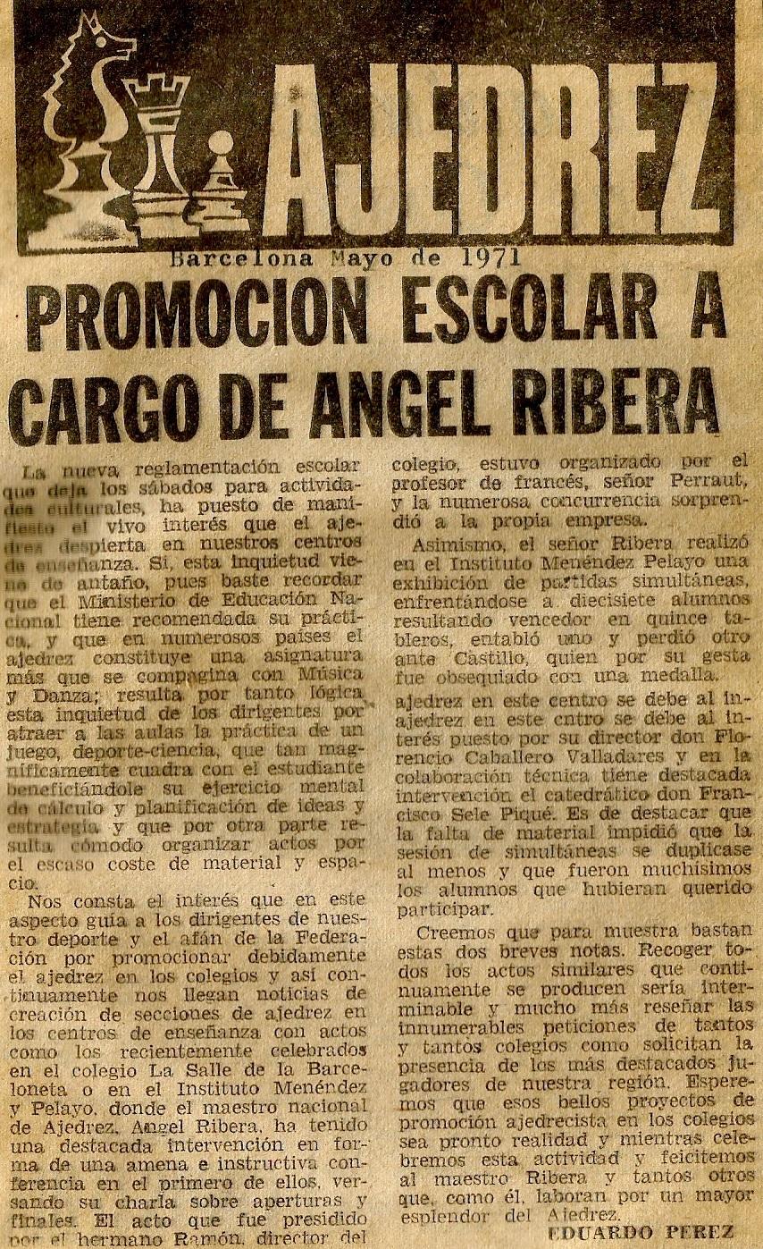 """Recorte del diario """"Dicen…"""" - Mayo de 1971"""