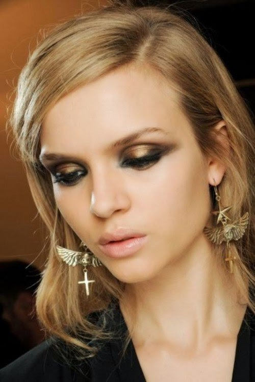 Fall-2014-Makeup-Trends-Metallic-eyes