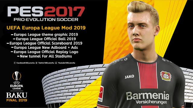 17986fe63 PES 2017 UEFA Europa League Mod 2018 2019 - Micano4u