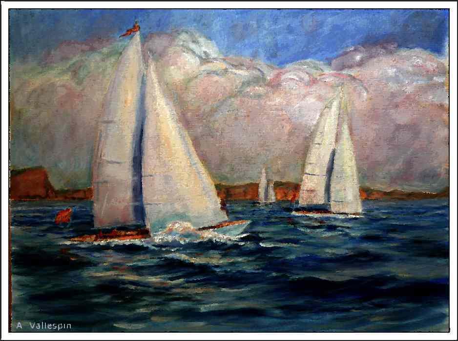 Pintura Militar Y Naval Marinas Al Oleo De Barcos De Vela Clasicos
