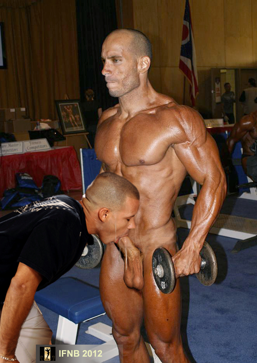 Straight body builders fucking gay first