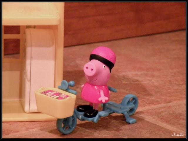 Peppa on a bike