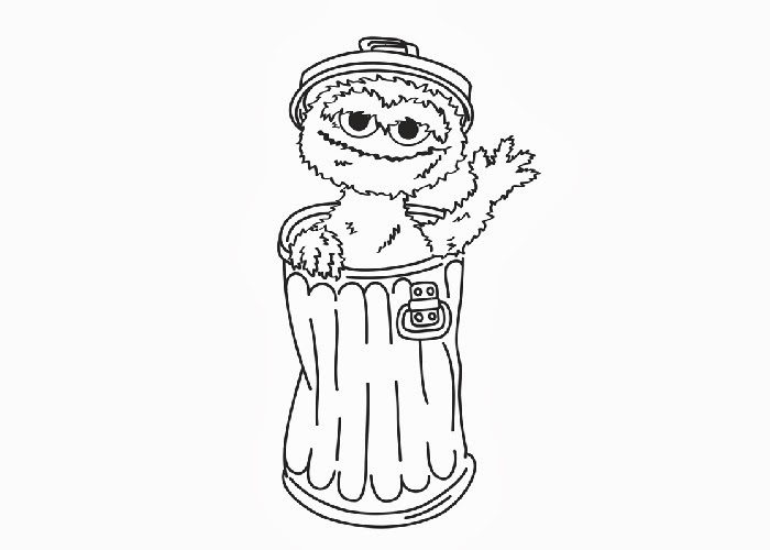 oscar the grouch coloring pages | Oscar the grouch coloring pages | Free Coloring Pages and ...