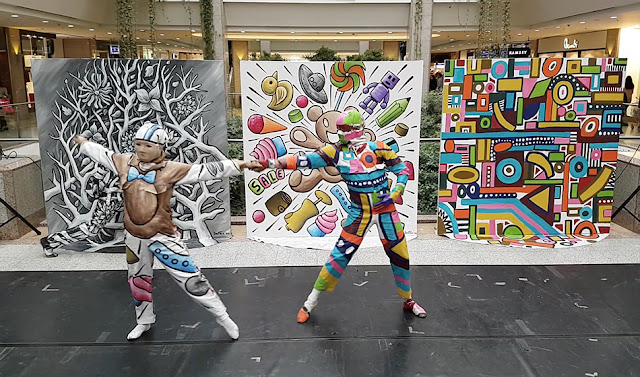 Dancers - Ben Heine Art - Flesh and Acrylic - Colorful