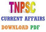 TNPSC Current Affairs 2017 and 2016 - Download PDF