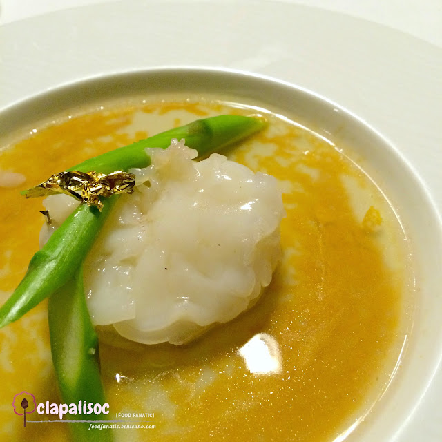 Steamed King Prawn with Steamed Egg from Lung Hin Marco Polo Ortigas