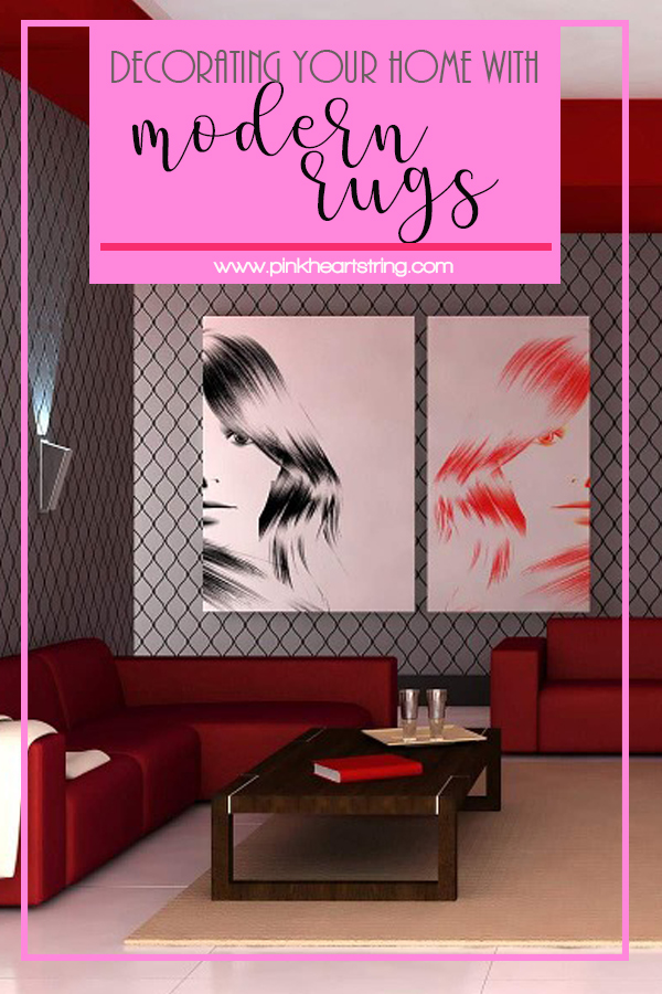 how to decorate with modern rugs