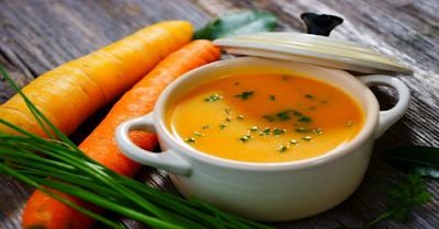 menu makan siang diet mayo dengan sup wortel
