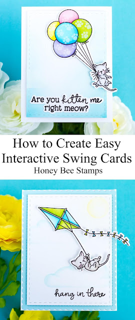 Easy Interactive Swing Cards for Honey Bee Stamps  by ilovedoingallthingscrafty.com