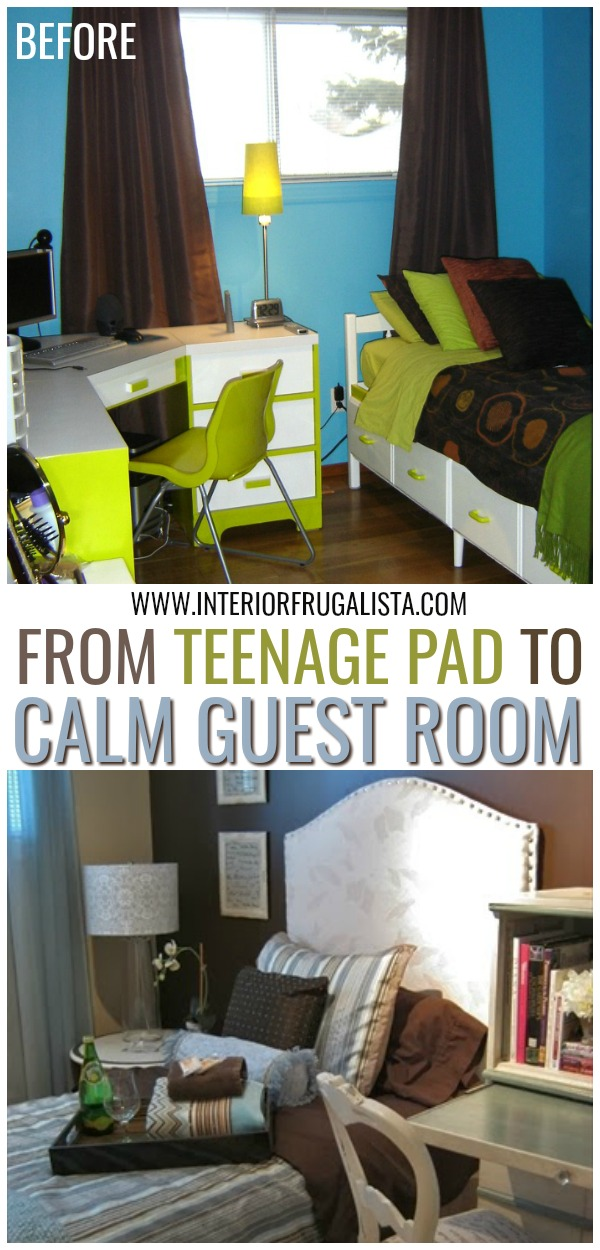 From Teenage Pad To Calm Guest Room