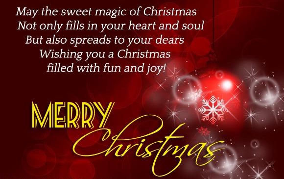 Messages of Merry Christmas 2017