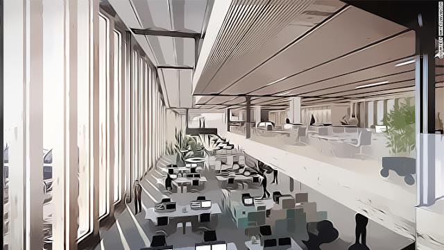 Markas tersebut nantinya akan memiliki 11 lantai dengan luas 1 juta kaki persegi, lengkap dengan taman atap yang luas dan indah.
