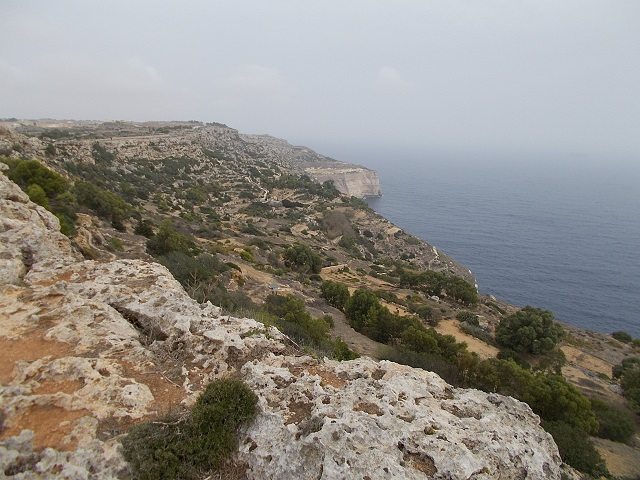 Panoramic view of Dingli Cliff