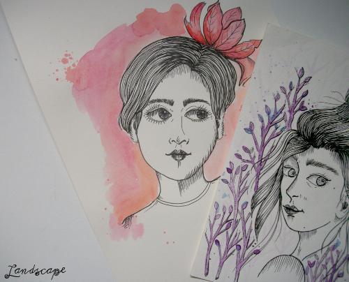 Ilustrações em Aquarela