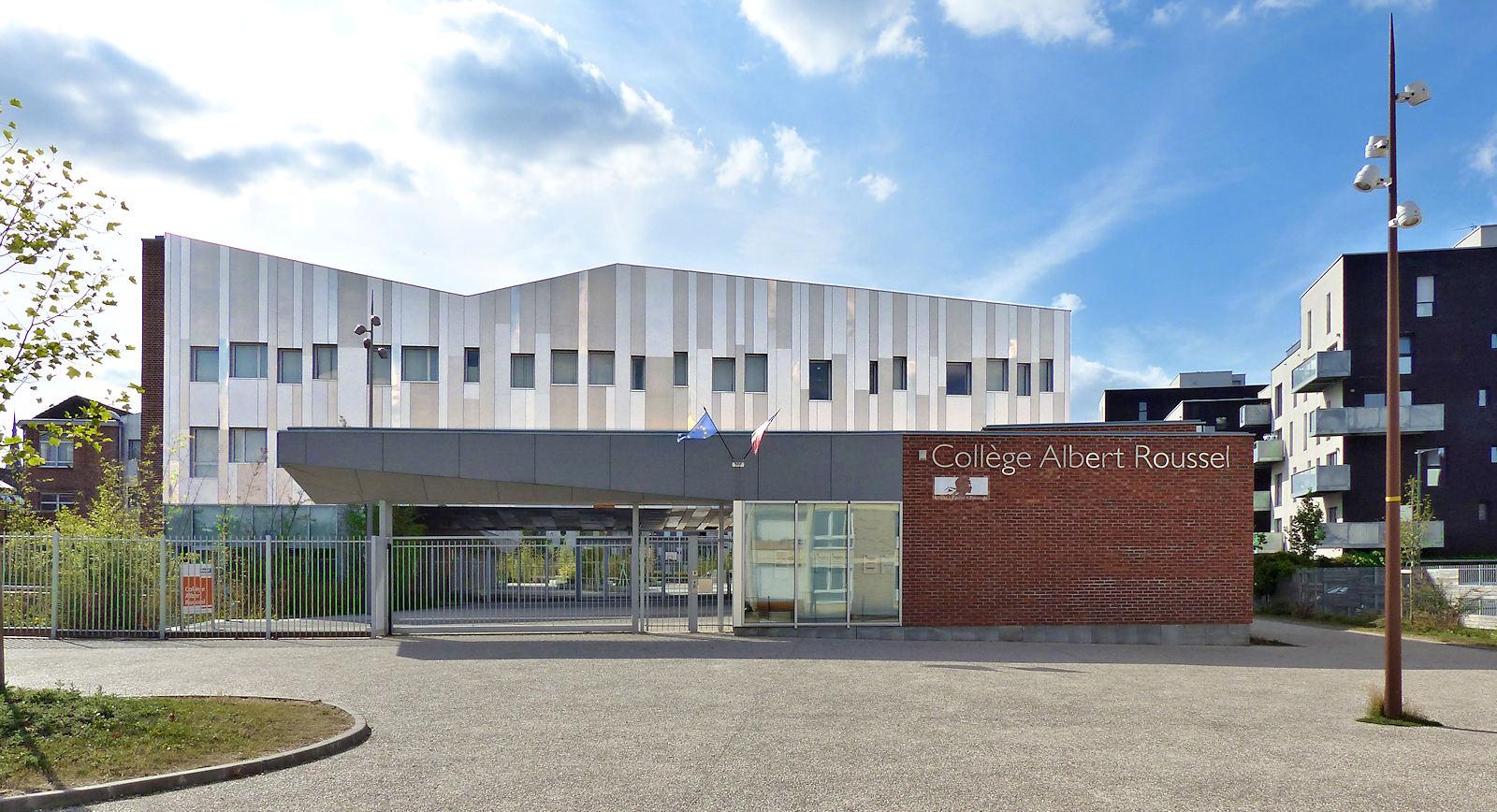 La façade et l'entrée du Collège