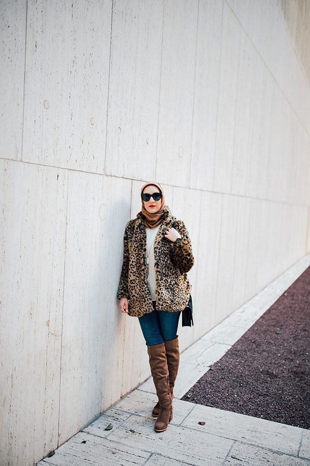 Leopard Coat-OTK Boots-Hijab-Over The Knee Boots-NYC-Hijab Blogger-Modest Fashion
