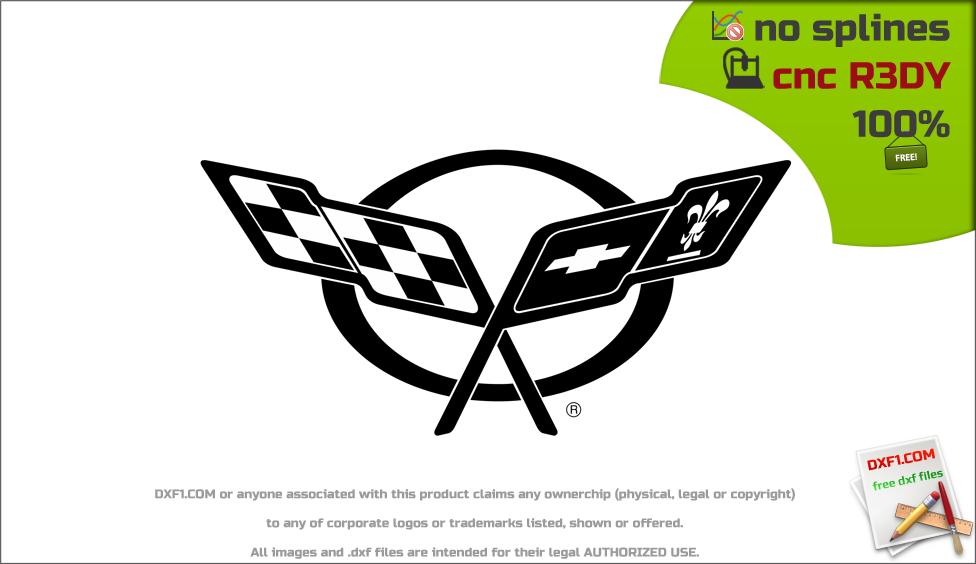 Images of Corvette Emblem Dxf - #rock-cafe
