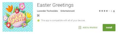 Easter greetings apps