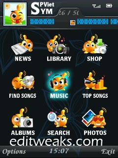 Kxting Music Player for Symbian