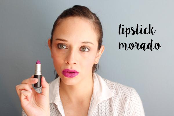 como llevar lipstick nude y morado