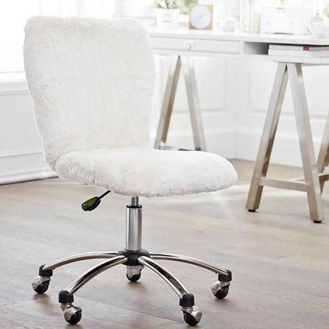 beyaz tüylü sandalye