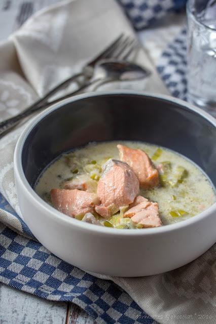 Яхния от сьомга / Blanquette de saumon