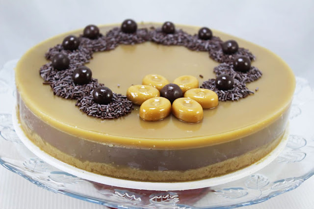 Tarta de chocolate y caramelo Thermomix
