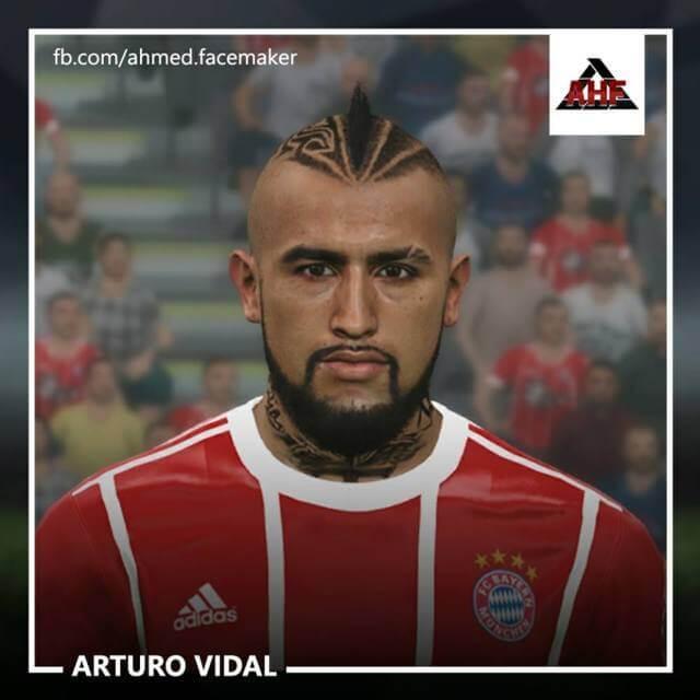 Arturo Vidal Face PES 2017
